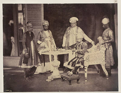 Aristocrat Photograph - H.e. The Tondiman Rajah by British Library