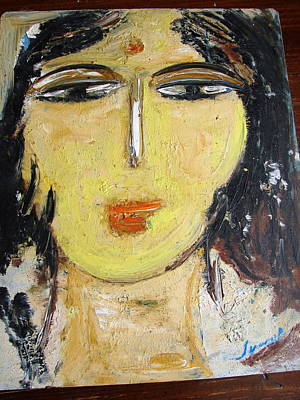 Painting - Head-2 by Anand Swaroop Manchiraju