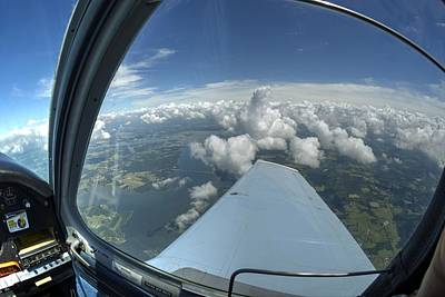 Beechcraft Bonanza Photograph - Head Above The Clouds by Phil Rispin