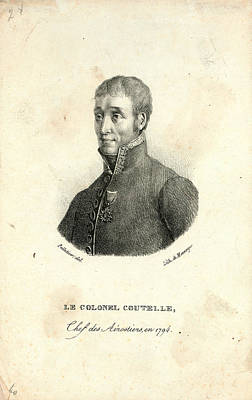 Observation Drawing - Head-and-shoulders Portrait Of Jean Marie Joseph Coutelle by Litz Collection