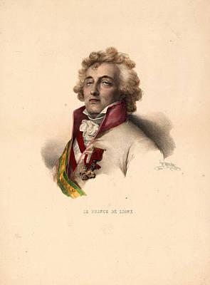 Ligne Drawing - Head-and-shoulders Portrait Of Prince De Ligne by Litz Collection