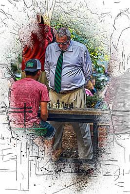Asheville Digital Art - Head Game by John Haldane