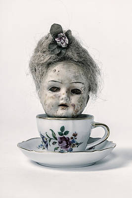 Tableware Photograph - Head In Cup by Joana Kruse