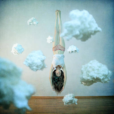 Head In The Clouds Art Print by Anka Zhuravleva