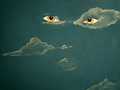 Head In The Clouds Art Print by Corina Bishop