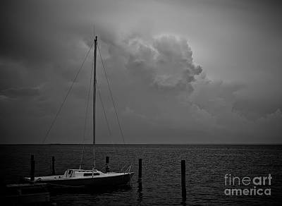 Photograph - Head In The Clouds In Black And White by Mark Miller