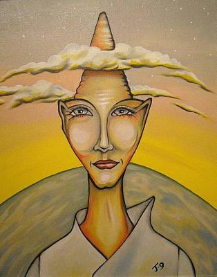 Head In The Clouds Art Print by Janine Cooper Ayres