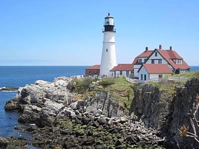 Photograph - Head Light Lighthouse Cape Elizabeth Maine by Patricia Urato