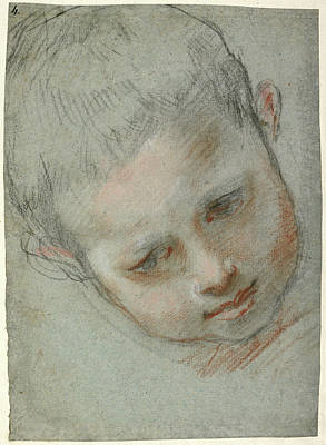 Head Of A Boy Recto,  Figure Studies Verso Federico Barocci Art Print by Litz Collection