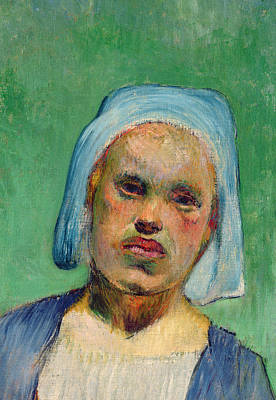 Breton Painting - Head Of A Breton by Paul Gauguin