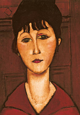 Head Of A Girl Art Print by Amedeo Modigliani
