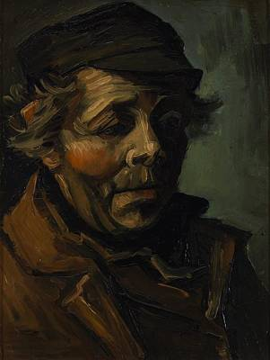 New South Wales Painting - Head Of A Peasant With Cap by Vincent van Gogh