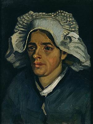 Country Girl Painting - Head Of A Peasant Woman, 1885 Oil On Canvas Laid On Millboard by Vincent van Gogh
