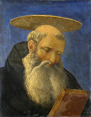 Painting - Head Of A Tonsured Bearded Saint by Domenico Veneziano