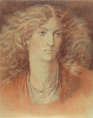 Head Of A Woman Called Ruth Herbert Art Print by Dante Charles Gabriel Rossetti