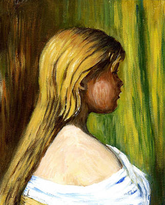 Phil Clark Painting - Head Of A Young Girl2 by Phil Clark