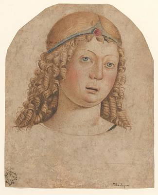 Head Of A Youth With A Diadem Print by Cristoforo Caselli