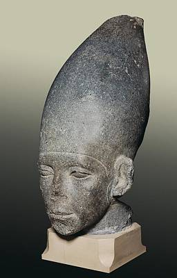 Statue Portrait Photograph - Head Of Amenemhat I. 1991 -1962 Bc by Everett
