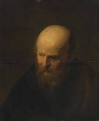 18th Century Painting - Head Of An Old Man by Celestial Images