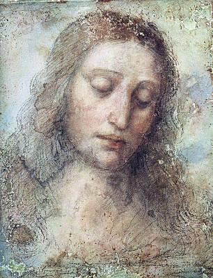 Religious Art Drawing - Head Of Christ Restoration Art Work by Karon Melillo DeVega