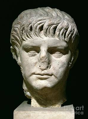 Roman Ancient Sculpture - Head Of Nero by Anonymous