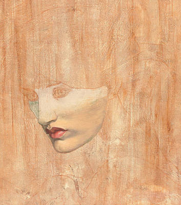 Nose Drawing - Head Of Proserpine by Dante Gabriel Charles Rossetti