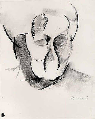 Umberto Drawing - Head Of The Artists Mother by Umberto Boccioni