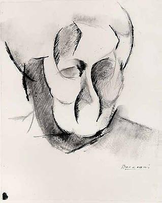 Umberto Boccioni Drawing - Head Of The Artists Mother by Umberto Boccioni