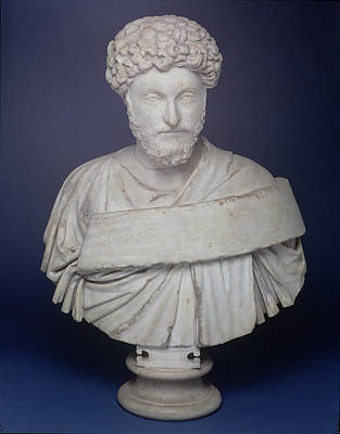 Luna Sculpture - Head Of The Emperor Marcus Aurelius by Roman School