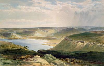 Russia Painting - Head Of The Harbor At Sebastopol by William 'Crimea' Simpson