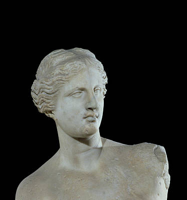 Venus De Milo Sculpture - Head Of The Venus De Milo by Greek School