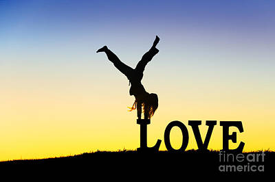 Positivity Photograph - Head Over Heels In Love by Tim Gainey