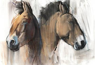 Horse Pastels Painting - Head Study by Mark Adlington
