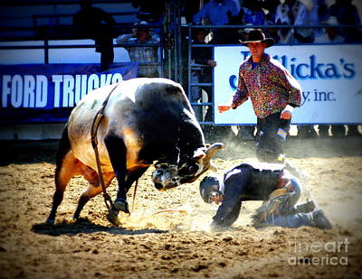 Bull Riders Photograph - Head To Head by Bill Keiran