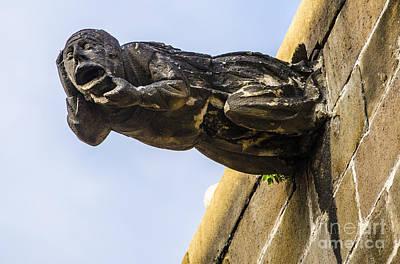 Photograph - Head Twisting Gargoyle by Deborah Smolinske