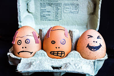 Art Print featuring the photograph Headache Eggs. by Gary Gillette