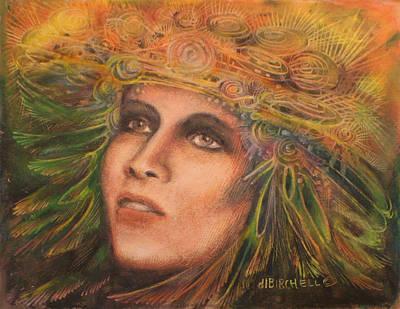 Headdress Art Print by Debra Lynn Birchell