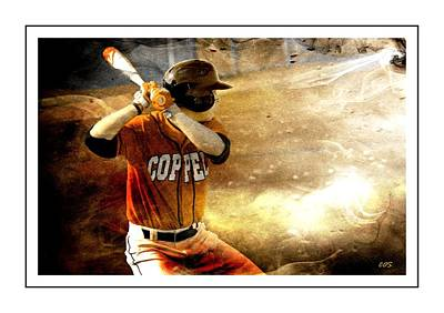 Digital Art - Headed For The Major League by Carrie OBrien Sibley