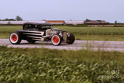 Custom Auto Photograph - Headed To The Drags by Dennis Hedberg