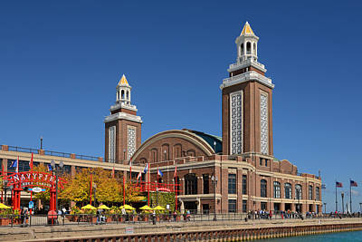 Headhouse Chicago Navy Pier Print by Christine Till