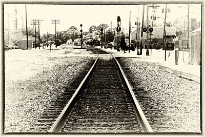 Photograph - Railroad - Tracks - Heading East by Barry Jones