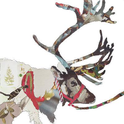 Reindeer Painting - Heading East-reindeer by Catherine Kleeli