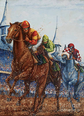 Painting - Heading For Home - The Race by Sher Sester