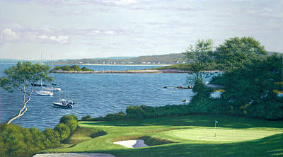 Buzzard Painting - Heading For The 19th Hole -woods Hole Golf Club by Julia O'Malley-Keyes