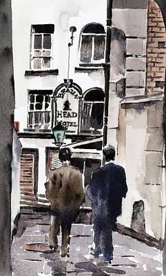 Painting - Heading For The Brazen Head  Dublin by Val Byrne