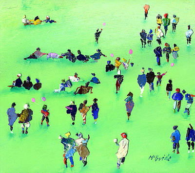 Crowds Painting - Heading For The Prom by Neil McBride