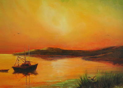Painting - Heading Home At Sunset by Rich Kuhn
