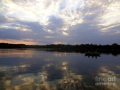 Heading Home On Lake Roosevelt In Outing Minnesota Art Print