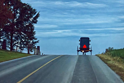 Horse And Buggy Digital Art - Heading Home by Priscilla Burgers