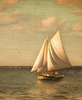 Sailing Mixed Media - Heading In by Michael Petrizzo